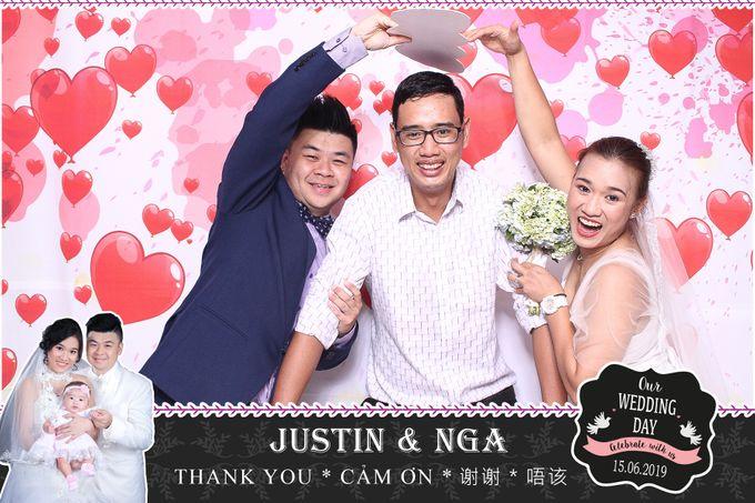 Nga & Justin Wedding by Printaphy Photobooth Ho Chi Minh Sai Gon Vietnam by Printaphy Photobooth Vietnam - 004