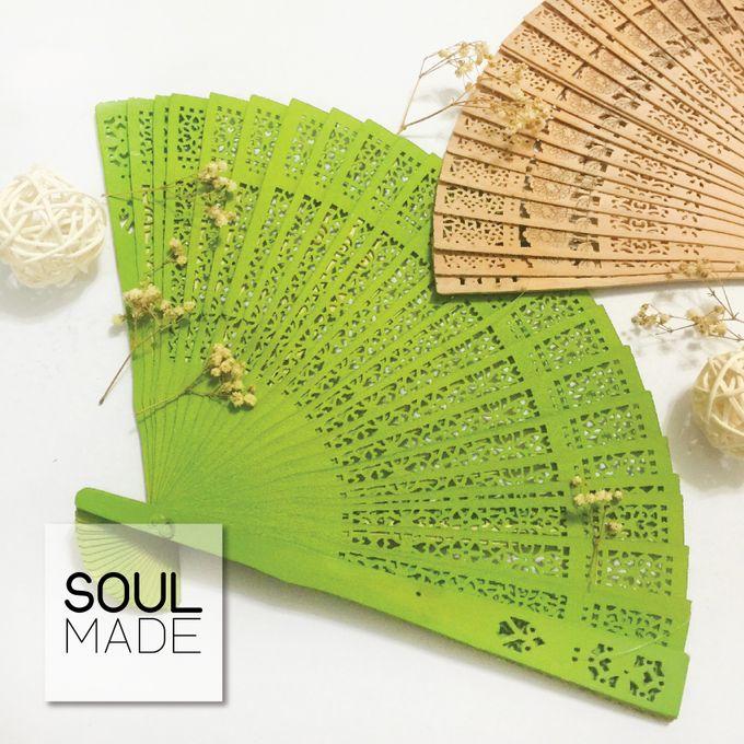 Hand Folded Bamboo Fan by Soulmade Design - 004