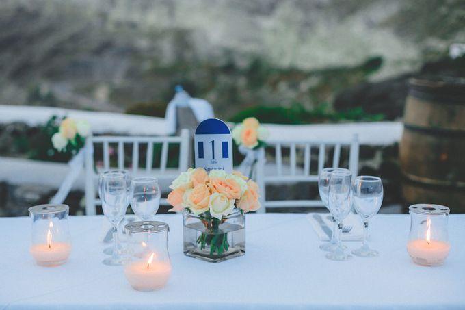 Romantic elegant wedding in Santorini by MarrymeinGreece - 014