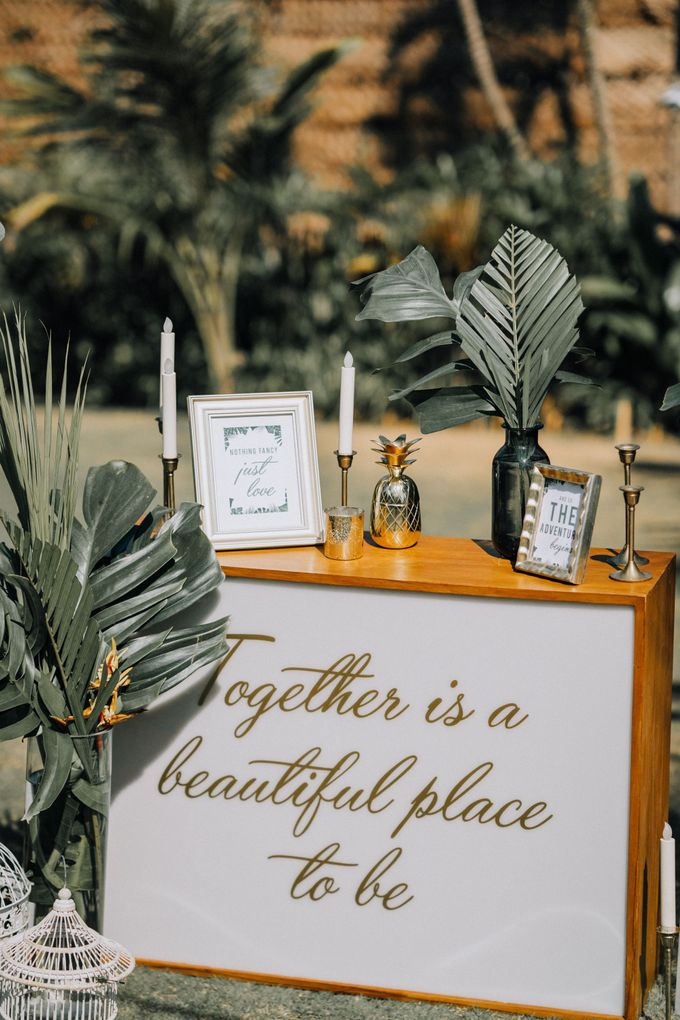 Simple Tropical Summer Wedding at Taman Ahimsa Bali by Silverdust Decoration - 006