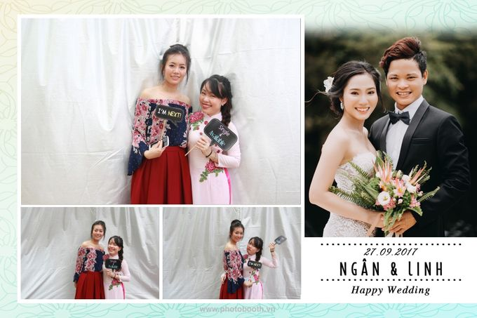 Ngan & Linh Wedding Photo Booth by Wefiebox by WefieBox Photobooth Vietnam - 004