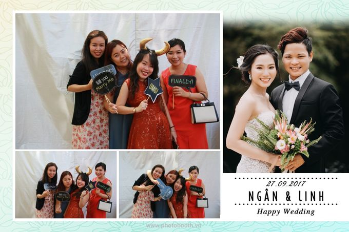 Ngan & Linh Wedding Photo Booth by Wefiebox by WefieBox Photobooth Vietnam - 001