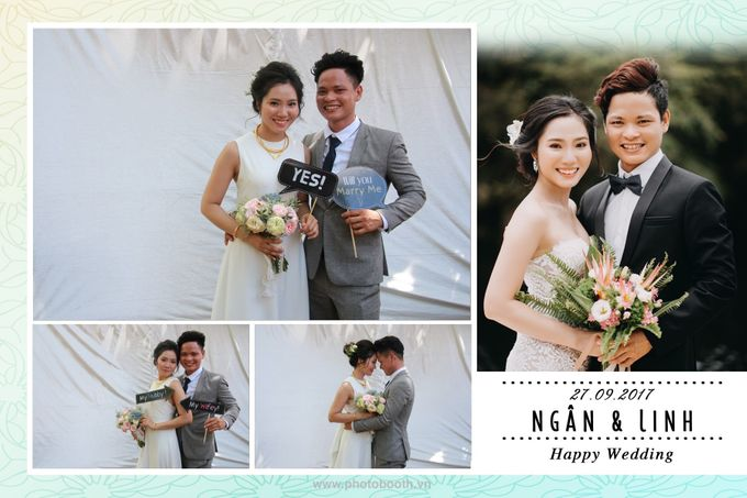 Ngan & Linh Wedding Photo Booth by Wefiebox by WefieBox Photobooth Vietnam - 006