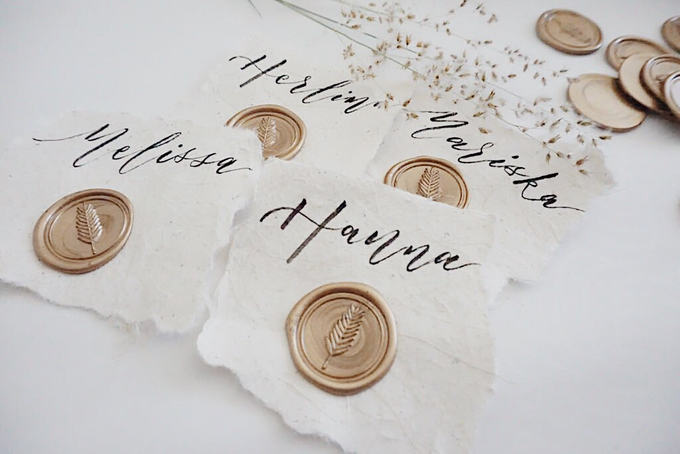 Place Cards with Seals by Calligraphy by Zemangzkah - 005