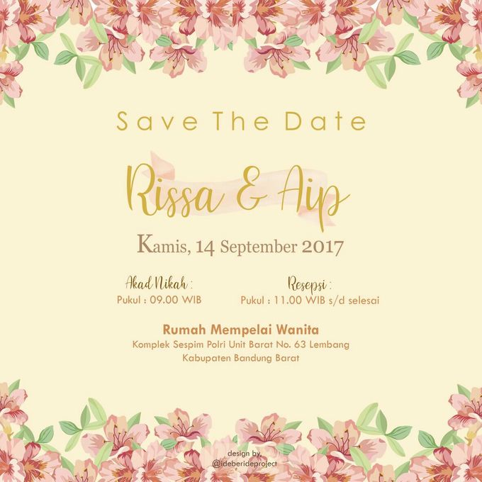 Risa and Aip E invitation by ideberideproject - 001