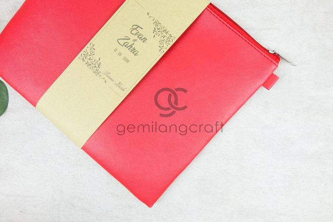 premium big zipper pouch packaging roll paper for Evan Dimas & Zahra Hakim by Gemilang Craft - 002