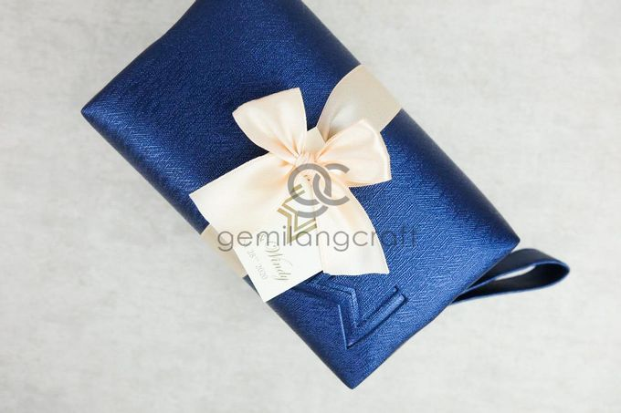 premium boxy pouch paackaging ribbon for willyam & windy by Gemilang Craft - 002