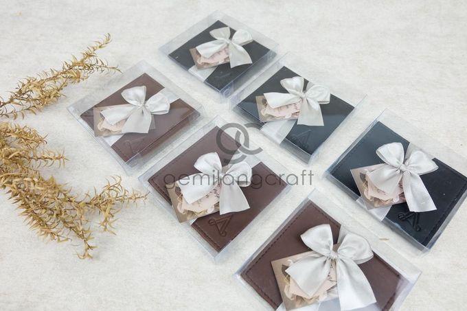 premium card wallet packaging box mika ribbon for ayu & ade by Gemilang Craft - 001