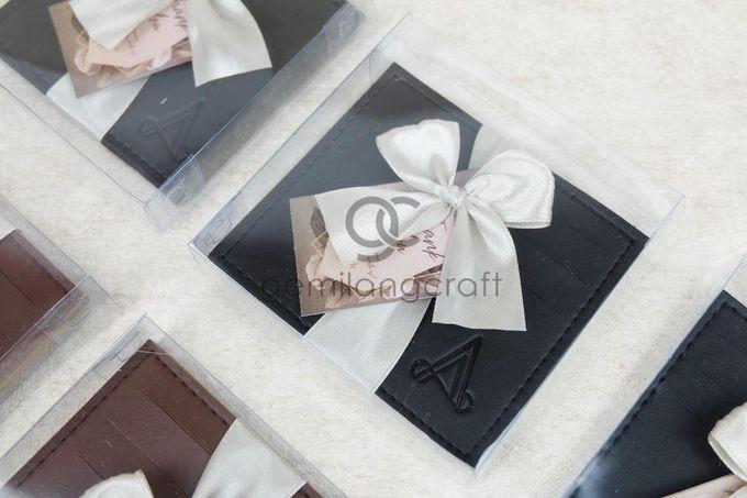 premium card wallet packaging box mika ribbon for ayu & ade by Gemilang Craft - 002