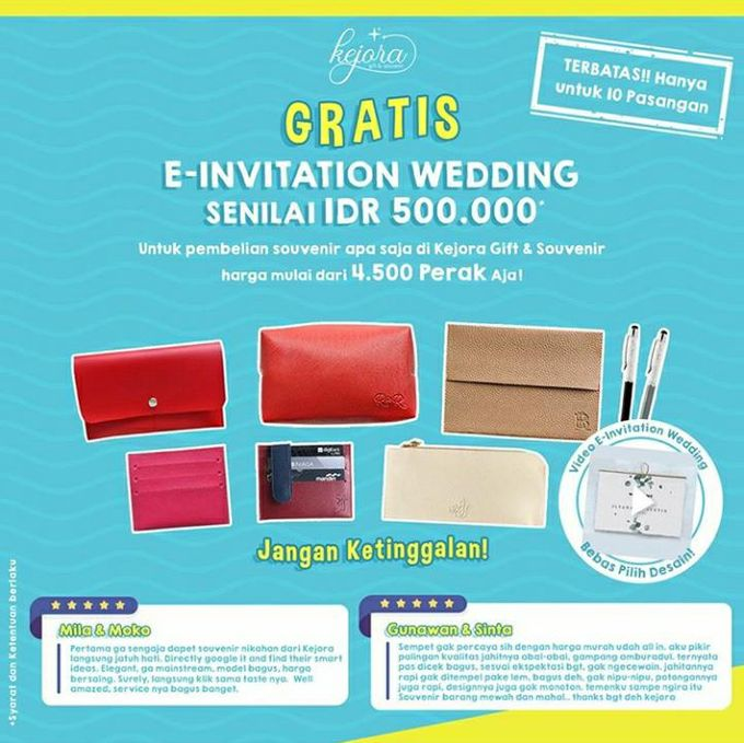 Beli Souvenir Gratis Invitation by Kejora Gift & Souvenir - 001