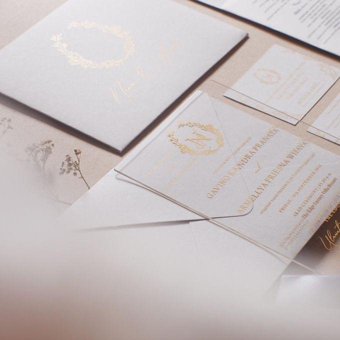 Intimate Wedding of Nino & Amel, feel so gorgeous with acrylic invitation by Putrajaya Invitation - 001