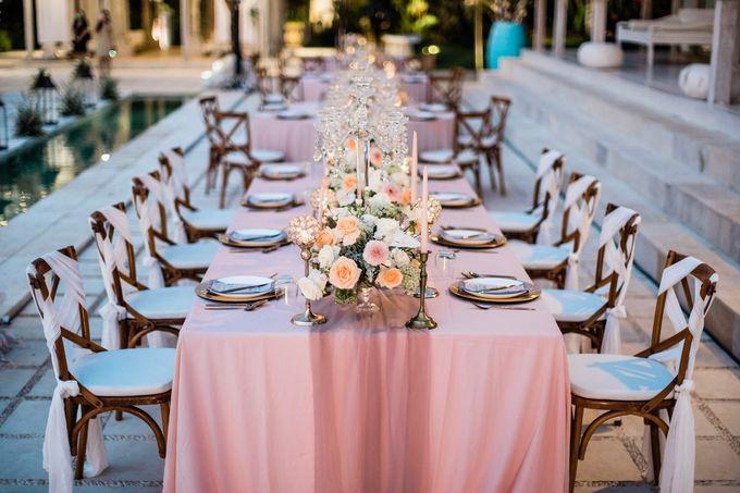 Elegant Vintage Coral Peach Palette for Willy and Luphyta Wedding at Plenilunio Villa Uluwatu by Bali Wedding Atelier - 015
