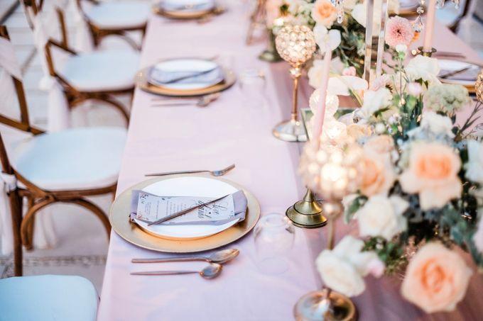 Elegant Vintage Coral Peach Palette for Willy and Luphyta Wedding at Plenilunio Villa Uluwatu by Bali Wedding Atelier - 020
