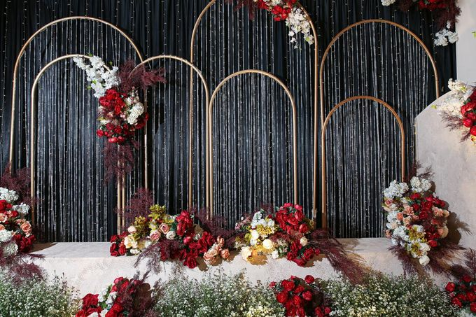 Michael & Dewi Wedding Decoration by Valentine Wedding Decoration - 006