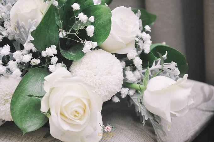 Church Arrangement for Erdick Stephanie Wedding by Floral Treats - 006