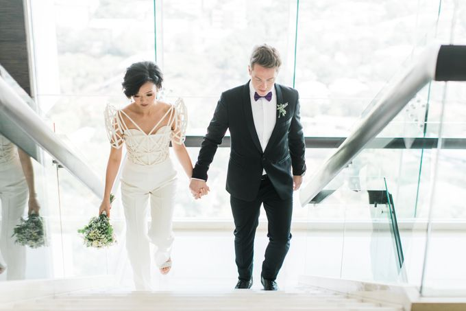 Andrea & Toby decided to do an intimate wedding with less than 50 guests. No bridesmaids/groomsmen, invitation or other details. They only had a brida by Foreveryday Photography - 002