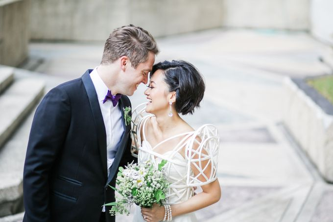 Andrea & Toby decided to do an intimate wedding with less than 50 guests. No bridesmaids/groomsmen, invitation or other details. They only had a brida by Foreveryday Photography - 033