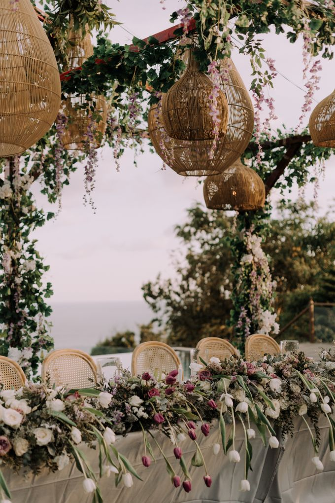 Gorgeously Romantic Bali Villa Wedding of William & Amelia by fire, wood & earth - 036