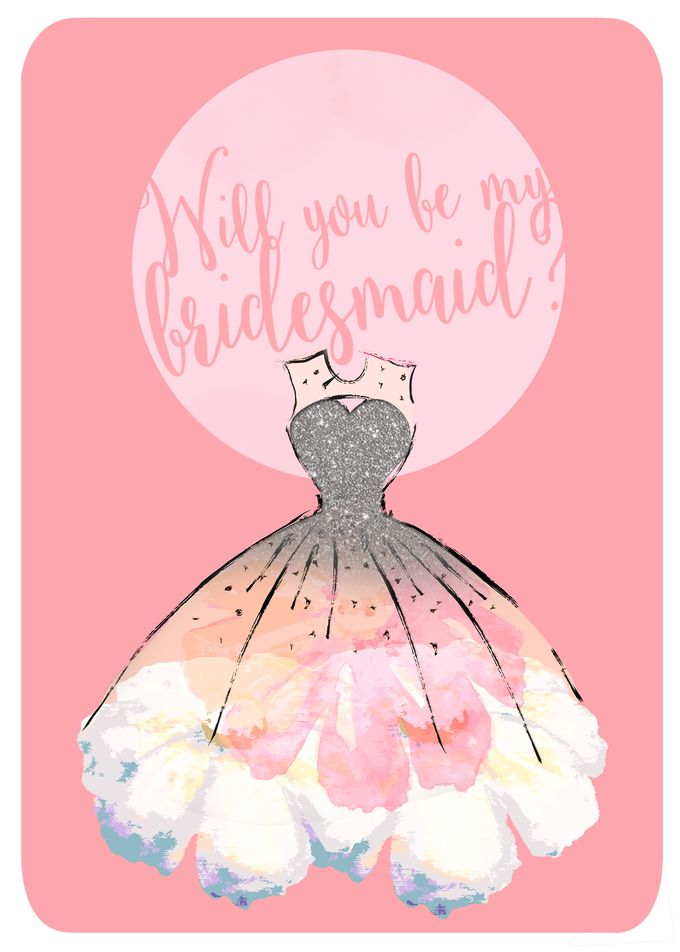 Will you be my bridesmaid invitation by She.Fox Invitations - 001