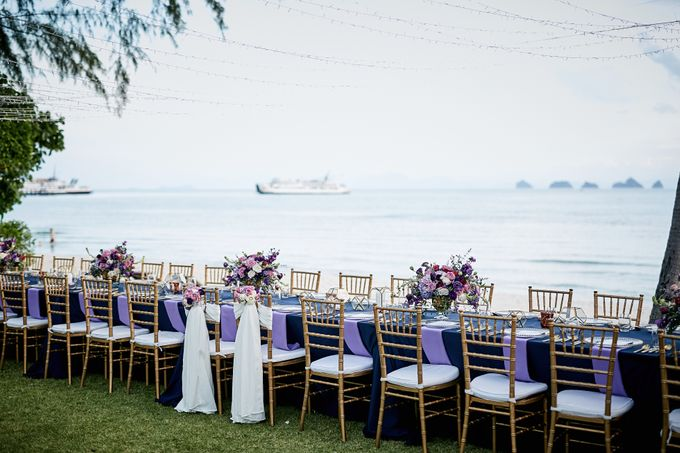 Purple Lilac  Navy and Gold wedding by Go Samui Catering - 001