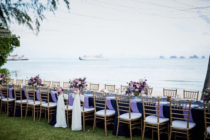 Purple Lilac  Navy and Gold wedding by Go Samui Catering - 002