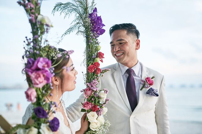 Purple Lilac  Navy and Gold wedding by Samui Weddings and Events - 003