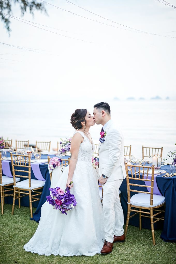 Purple Lilac  Navy and Gold wedding by Samui Weddings and Events - 004