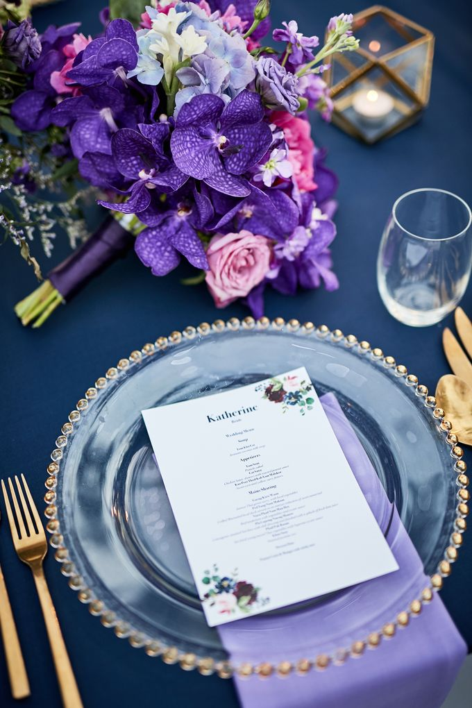 Purple Lilac  Navy and Gold wedding by Go Samui Catering - 003
