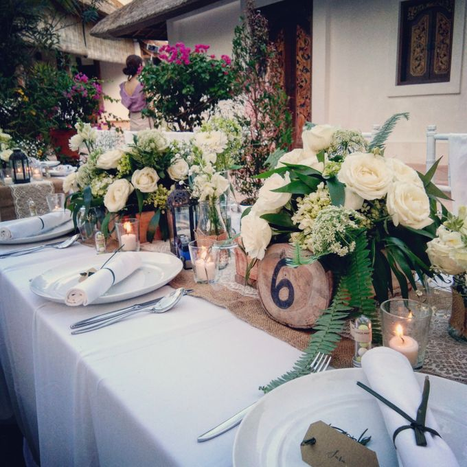 Chic & Rustic Garden Wedding In Green & White by magical blossoms - 016