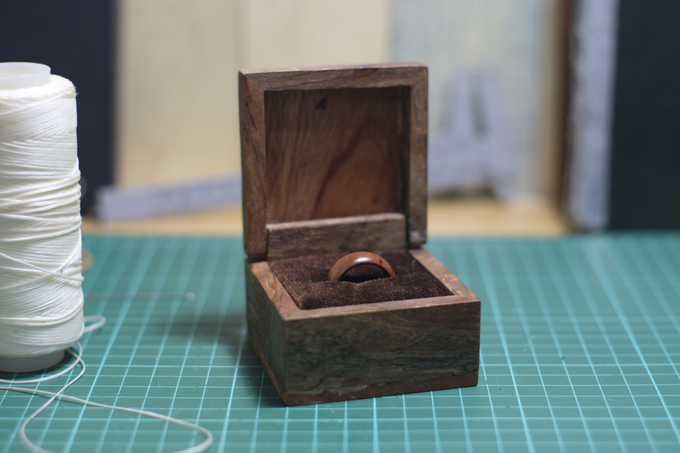 Jewellery and wedding ring box by Woodsmith Box Kayu - 006