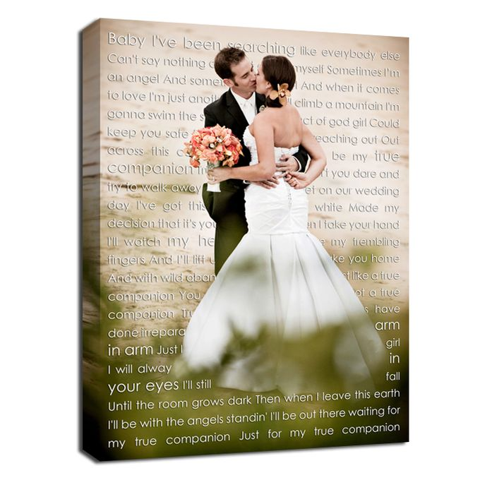 Wedding Photo First Dance Canvas Wedding Vow Art Gift for Husband by Geezees Custom Canvas - 001