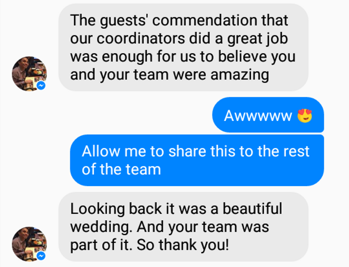 Our Clients and Feedback by Jaymie Ann Events Planning and Coordination - 014