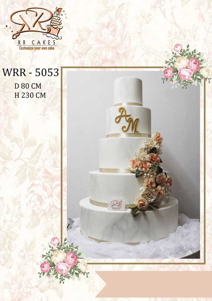 New Wedding Cake 2018 by RR CAKES - 011