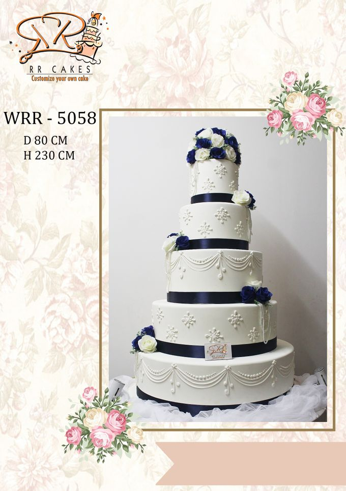 New Wedding Cake 2018 by RR CAKES - 016