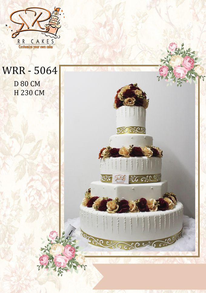 New Wedding Cake 2018 by RR CAKES - 022