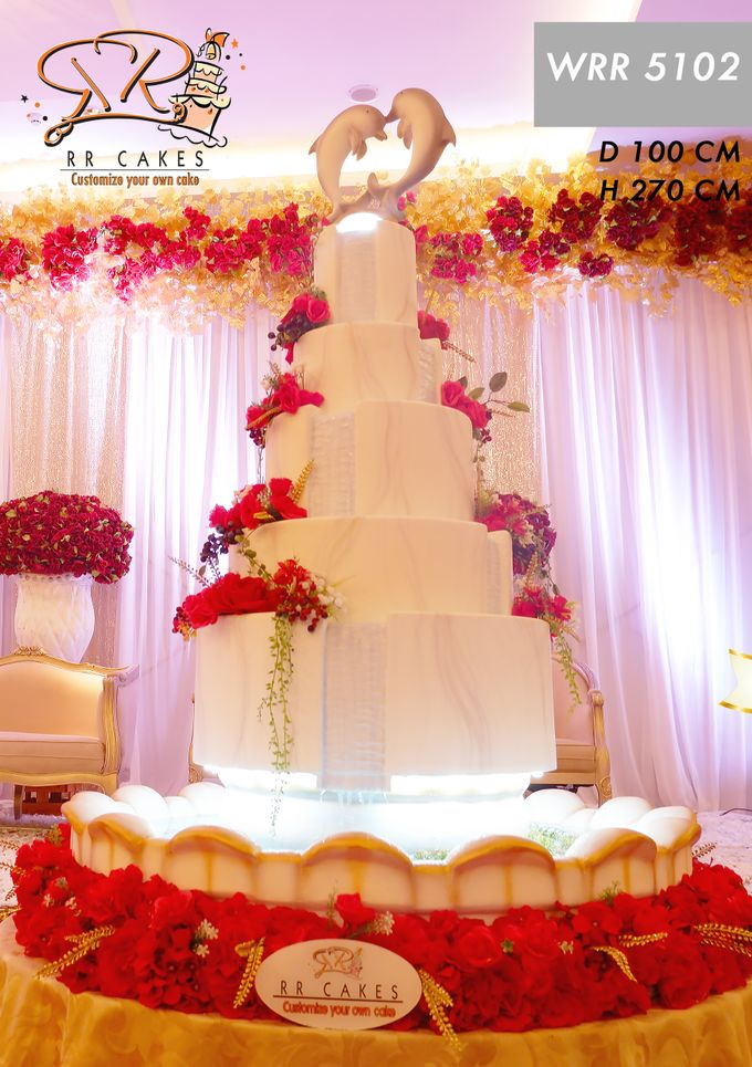 Weddingcake in 2019 - 5 tiers by RR CAKES - 007