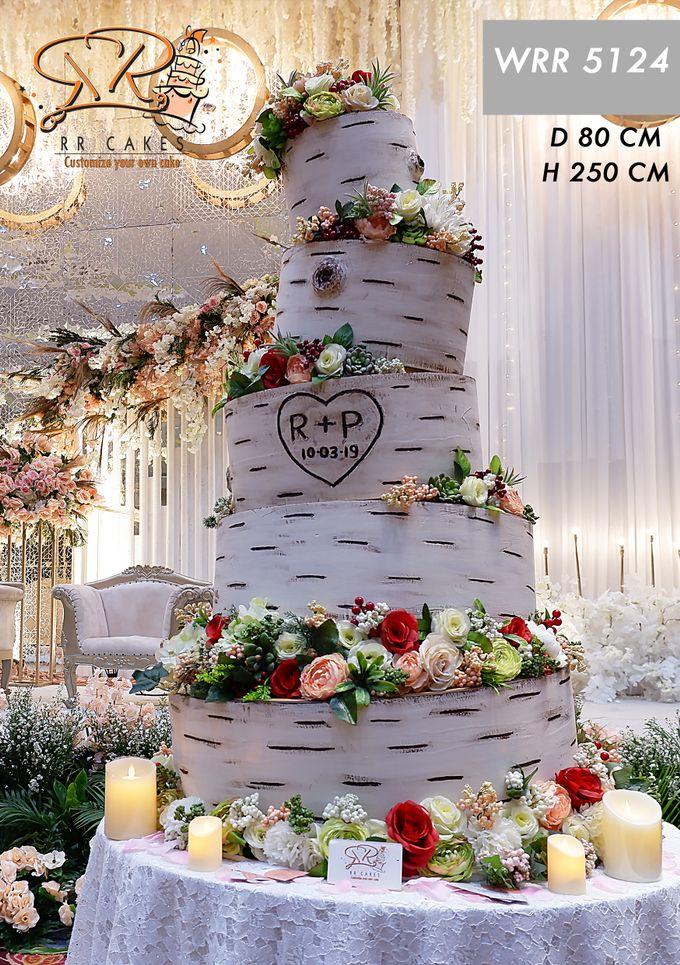 Weddingcake in 2019 - 5 tiers by RR CAKES - 022