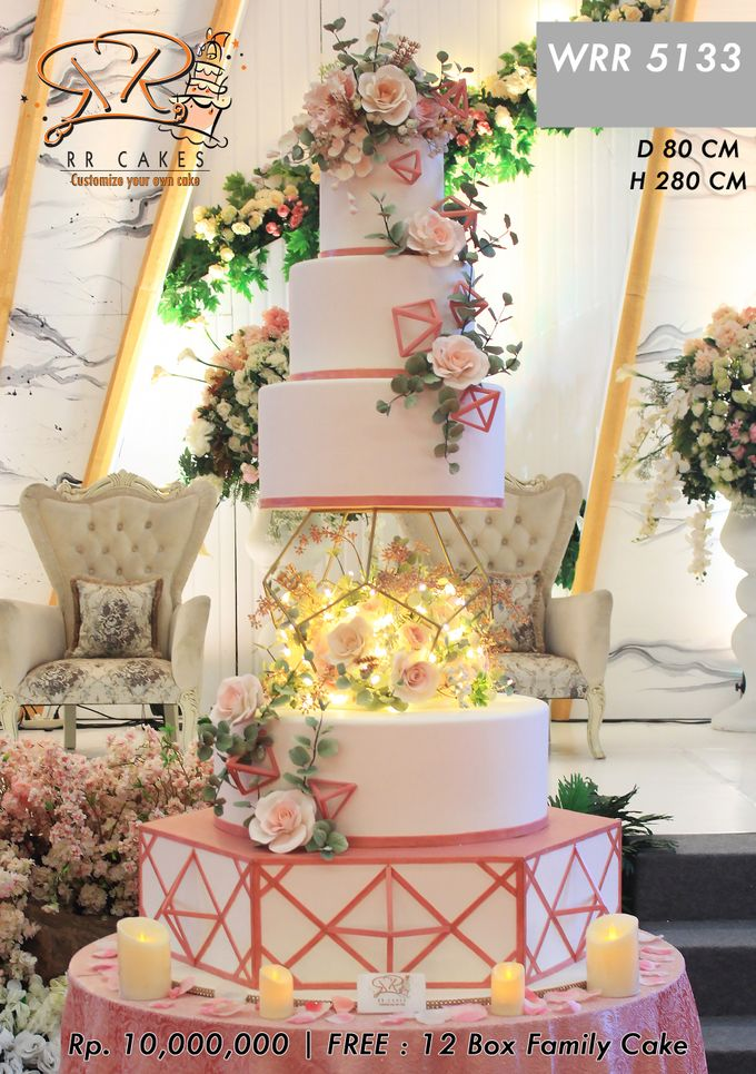 Wedding Cake 5 tier by RR CAKES - 007