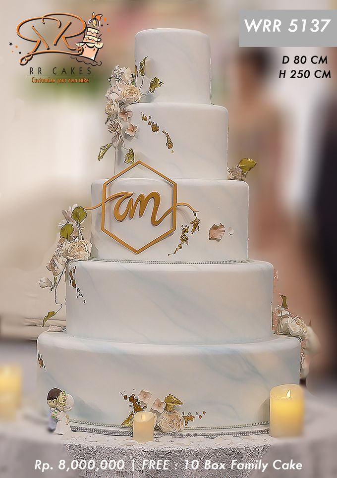 Wedding Cake 5 tier by RR CAKES - 003