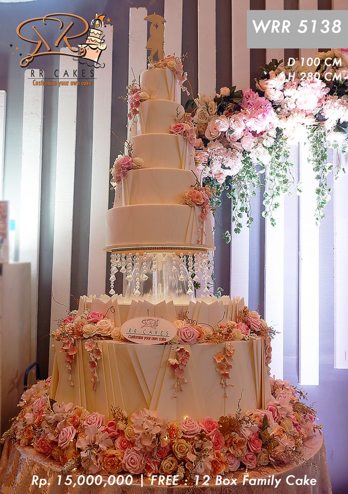 Wedding Cake 5 tier by RR CAKES - 019
