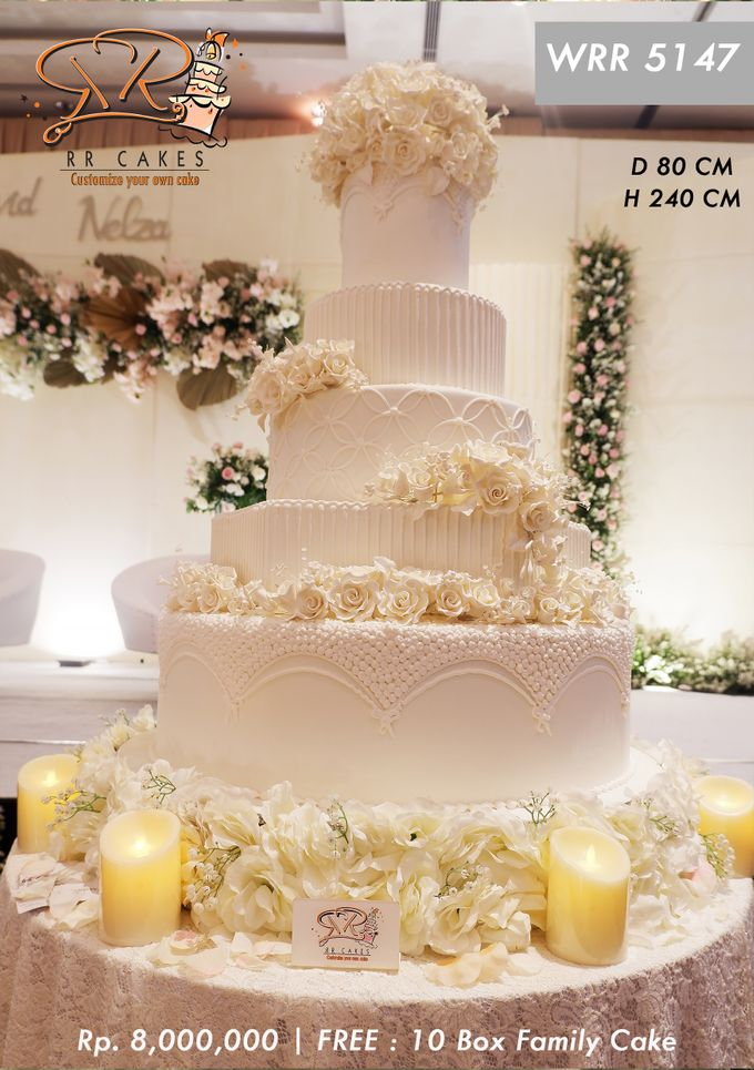 Wedding Cake 5 tier by RR CAKES - 006