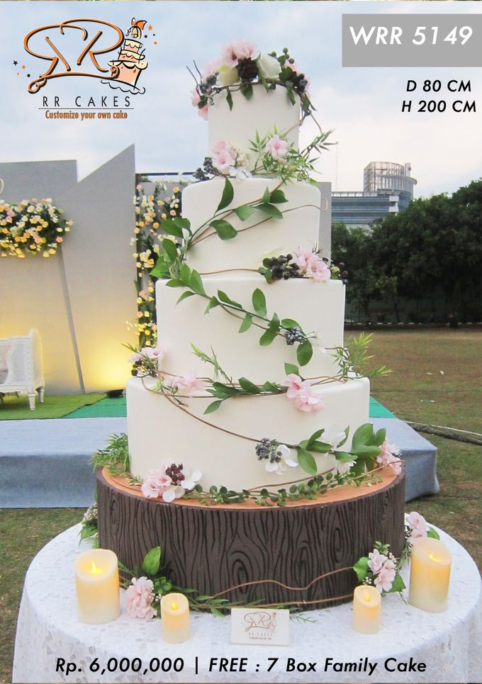 Wedding Cake 5 tier by RR CAKES - 008