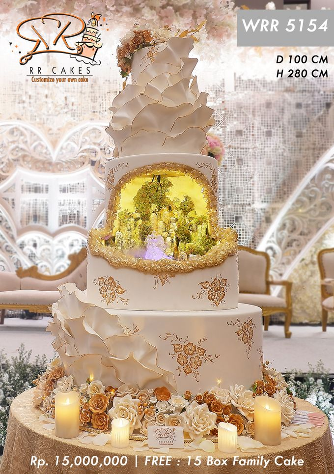 Wedding Cake 5 tier by RR CAKES - 009
