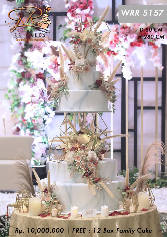Wedding Cake 5 tier by RR CAKES - 001