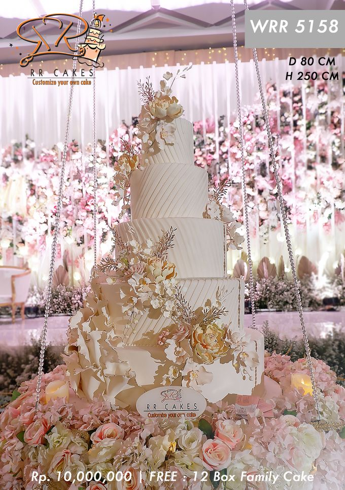 Wedding Cake 5 tier by RR CAKES - 015