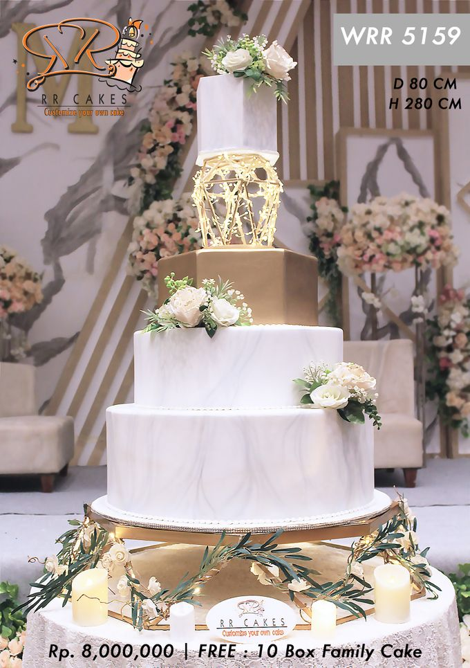 Wedding Cake 5 tier by RR CAKES - 005