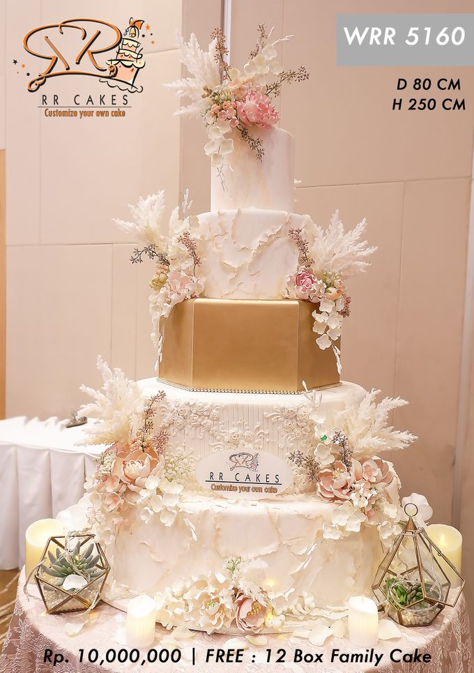 Wedding Cake 5 tier by RR CAKES - 004