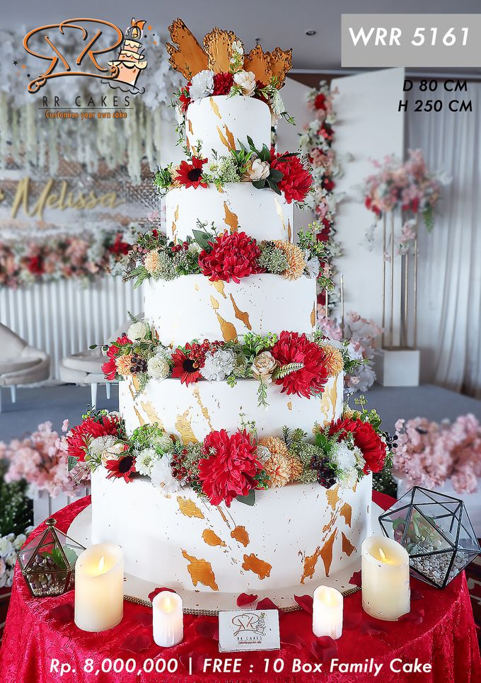 Wedding Cake 5 tier by RR CAKES - 010