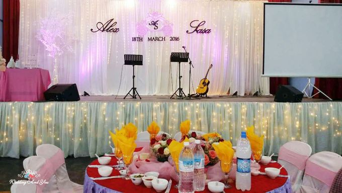 Stage Backdrop Design by Wedding And You - 003