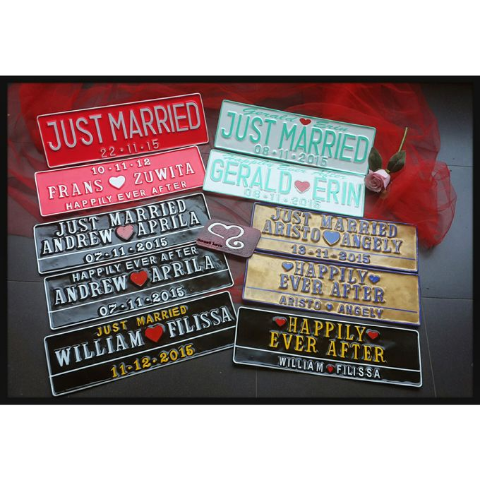 Wedding Car Plate by Sweetlovecollection - 022